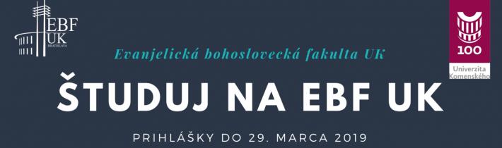 Štúdium na EBF Univerzity Komenského v Bratislave